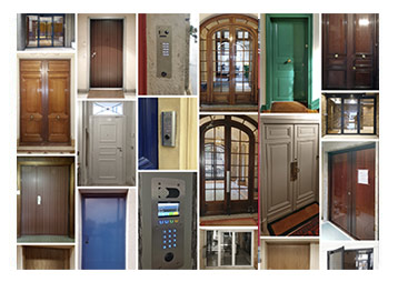 QUELQUES EXEMPLES DE POSES DE PORTES BLINDÉES, DE PORTES D'IMMEUBLES, DE PORTIERS INTERPHONES...